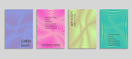 Minimal abstract vector halftone covers design. Future geometric template. Vector templates for placards, banners, flyers, presentations and reports Archivio Fotografico - 131840764