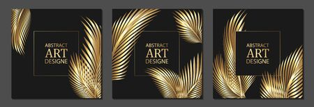 Set of luxury cover templates. Vector cover design for placards, banners, flyers, presentations and cards Ilustrace