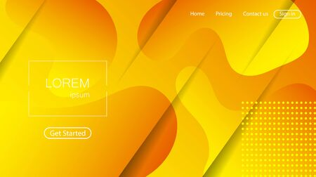 Website abstract background. Bright colorful dynamic shapes landing page Иллюстрация