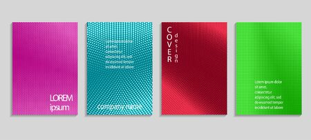 Minimal abstract vector halftone cover design template. Future geometric gradient background. Vector templates for placards, banners, flyers, presentations and reports