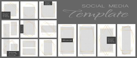 Social media banner template. Editable mockup for personal blog, layout for promotion Фото со стока - 131387890