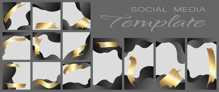 Social media banner template. Editable mockup for personal blog, layout for promotion Фото со стока - 131391162