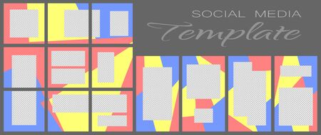 Social media banner template. Editable mockup for personal blog, layout for promotion