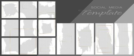 Social media banner template. Editable mockup for stories, personal blog, layout for promotion.