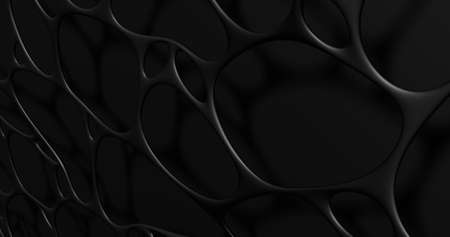 3d lattice. Abstract wall with grid cells. 3d render