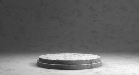 Minimalistic showcase with empty space. Empty marble podium for display product. 3D rendering. Reklamní fotografie
