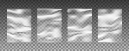 Set of transparent plastic warp background textures 向量圖像