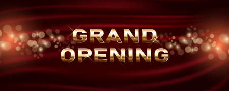 Grand opening vector banner. Template festive design element for opening ceremony can be used as background or poster 向量圖像