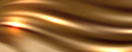 Golden Silk Fabric Abstract Background, Vector Illustration 向量圖像