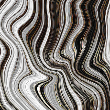 Abstract black marble background with golden veins