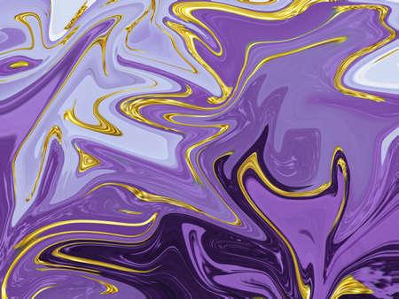 Purple liquid marble texture background