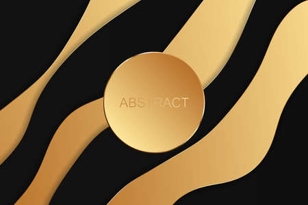 Abstract gold luxury background. Vector illustration 向量圖像