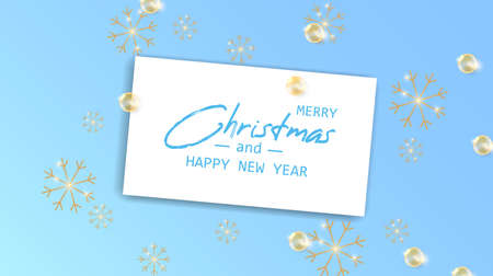 Marry Christmas and Happy New Year card