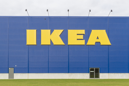 retailer: VILNIUS,LITHUANIA - September 18, 2016 :The Ikea store in Vilnius September 18, 2016. IKEA is the worlds largest furniture retailer. Founded in Sweden in 1943.