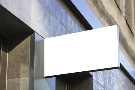 市内の看板。長方形をモックアップします。