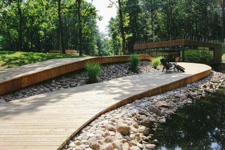 Druskininkai, Lithuania - August 8, 2015: Wellness park of Karolis Dineika in Druskininkai, Lithuania Editorial