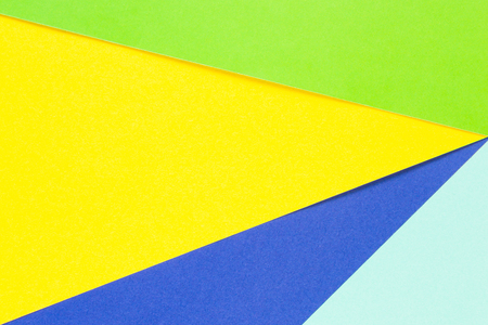 cerulean: Colored papers geometry flat composition background with yellow, green and blue tones