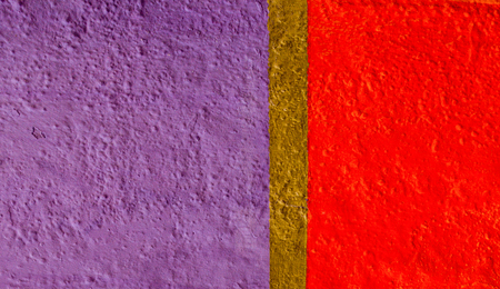 Painted in violet, red and gold color wall fragment