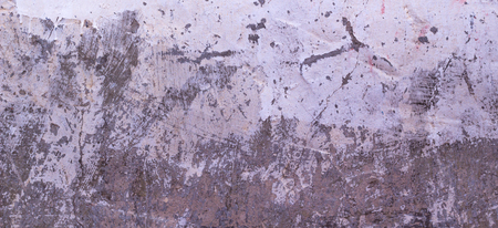 Old cracked rought gray and white plaster wall texture banner background