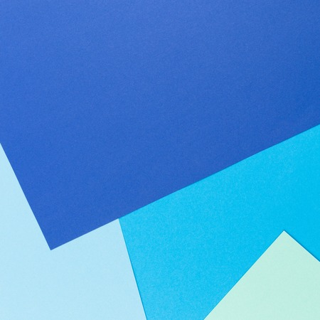 Color papers geometry flat composition background with blue tones Stock fotó
