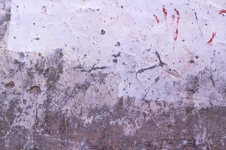Old cracked rought gray and white plaster wall texture background Stock Photo
