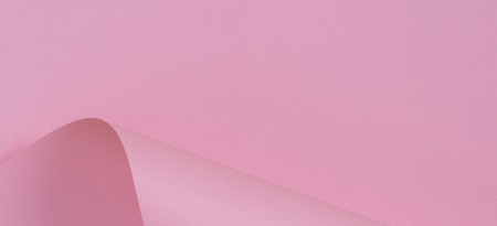Abstract geometric shape pink color paper background