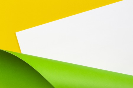 Abstract geometric white yellow and green color paper background. Stock fotó
