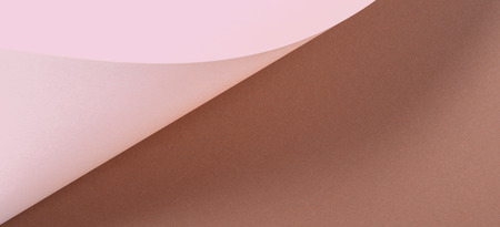 Abstract geometric shape beige brown color paper banner background.