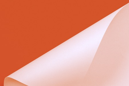 Abstract geometric shape orange and pink color paper background