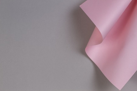 Abstract geometric shape pastel pink and gray color paper background
