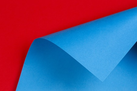 Abstract geometric shape pastel blue and red color paper background