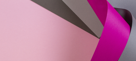 Abstract colorful background. Pastel pink and gray paper in geometric shape Stok Fotoğraf