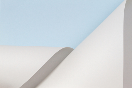 Abstract geometric shape pastel blue and white color paper background 写真素材
