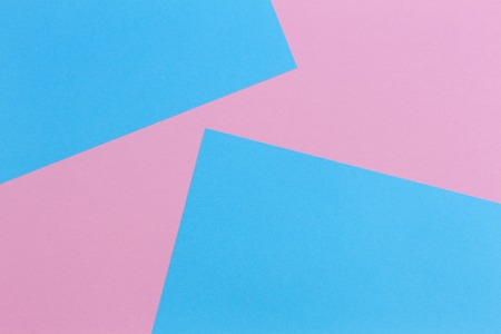 Abstract geometric shape pastel pink and light blue color paper background Stok Fotoğraf
