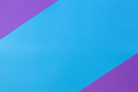 Color papers geometry flat composition background with purple and light blue tones