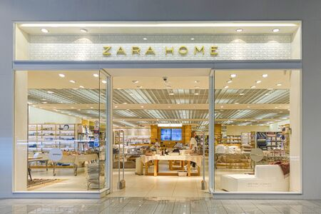 Vilnius, Lithuania - 24 September 2019: Zara Home Store in Vilnius. Zara Home is Spanish company dedicated to the manufacturing of home textiles.