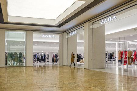 Vilnius, Lithuania - 24 September 2019: Zara clothes store on the shopping center Akropolis in Vilnius, Lithuania Redactioneel