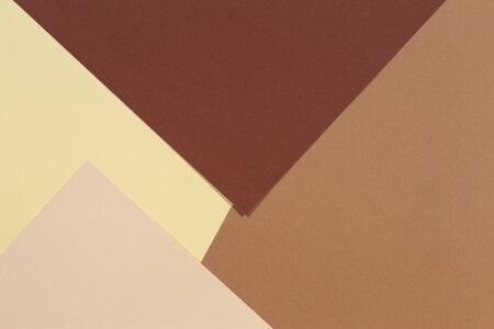 Abstract geometric paper texture background. Beige, brown yellow pastel trendy colors tones Stock Photo