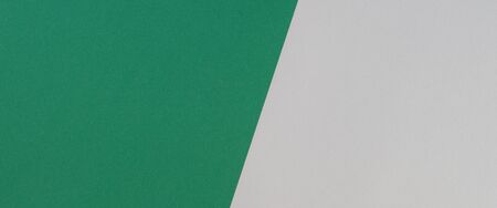 Green and light grey color paper banner background Stockfoto