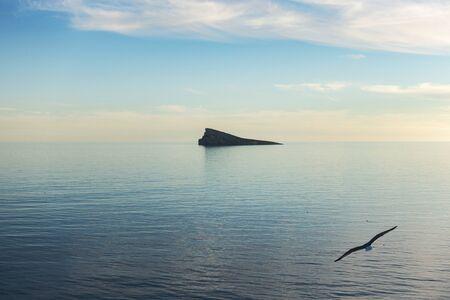 Benidorm island, Isla de Benidorm in Mediterranean sea, Benidorm, Alicante, Spain Stockfoto
