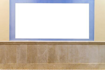Mock up. Blank billboard outdoors, outdoor advertising, showcase on the wall