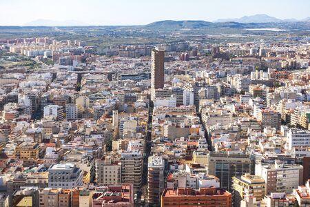 Panoramic view of Alicante city, Costa Blanca, Spain. Stockfoto