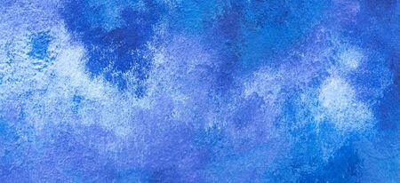 Abstract blue and white painted wall texture background outdoors Stockfoto