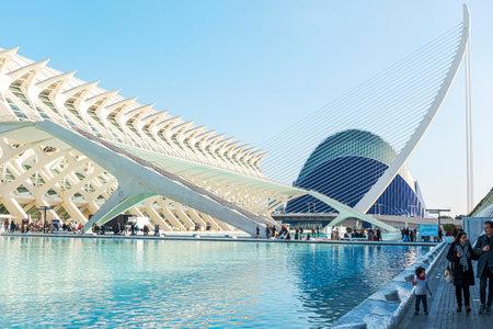 Valencia, Spain - January 02, 2020: The City of Arts and Sciences in Valencia, Spain Redakční