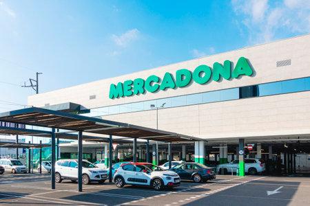 Finestrat, Spain - January 04, 2020: Mercadona supermarket in Finestrat, Spain. Mercadona is largest supermarket chain in Spain Redakční
