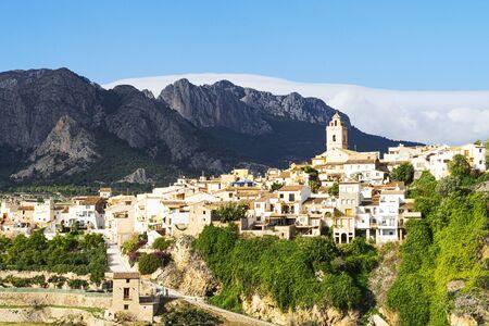 Beautiful small mountain village Polop, Costa Blanca, Spain Reklamní fotografie