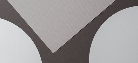 Abstract colored paper texture background. Minimal geometric shapes and lines in brown and gray colours