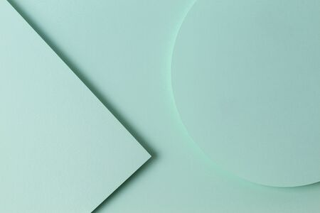 Abstract monochrome creative paper texture background. Minimal geometric shapes and lines in light green color