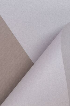 Abstract geometric shape gray brown color paper background.