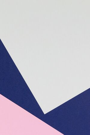 Abstract colored paper texture background. Minimal geometric shapes and lines in pastel blue, light pink, green.red and navy colours